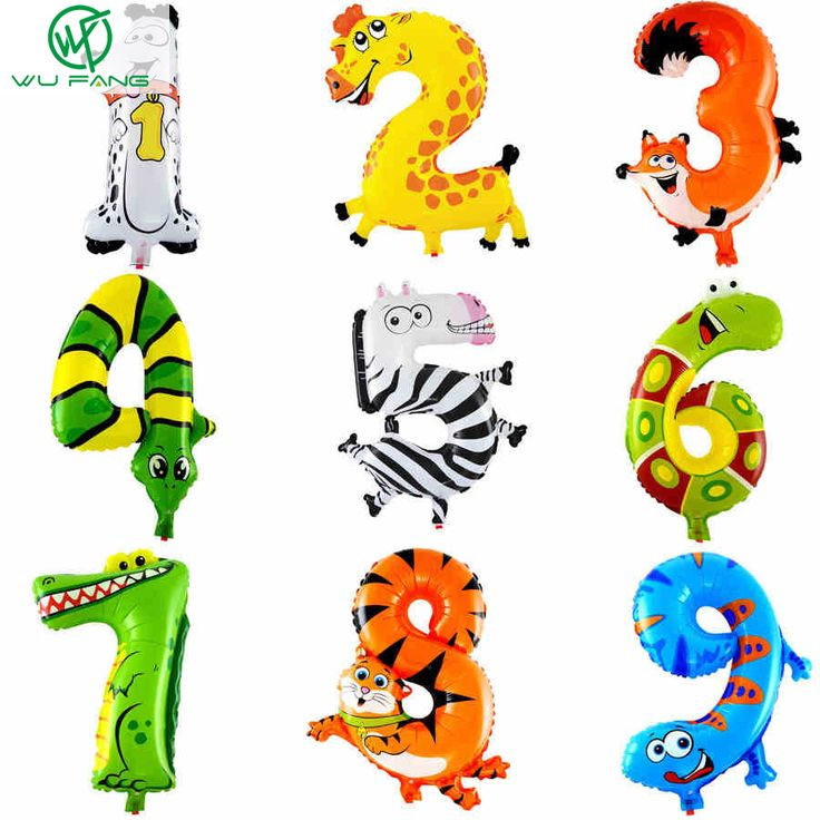 Animal number foil balloons kids party decoration happy birthday wedding ballon gift | worth buying on AliExpress