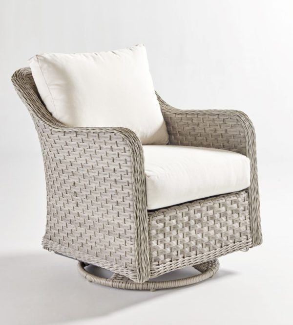 Mayfair Outdoor Wicker Swivel Glider, Patio Furniture Swivel Glider Chair