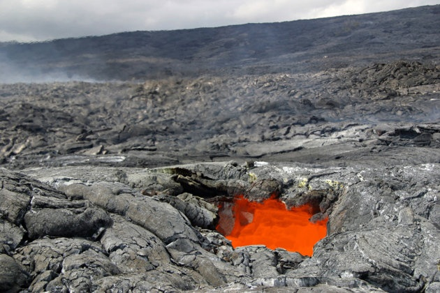Lava flow at Hawai'i Volcanoes National Park (Getty Images)