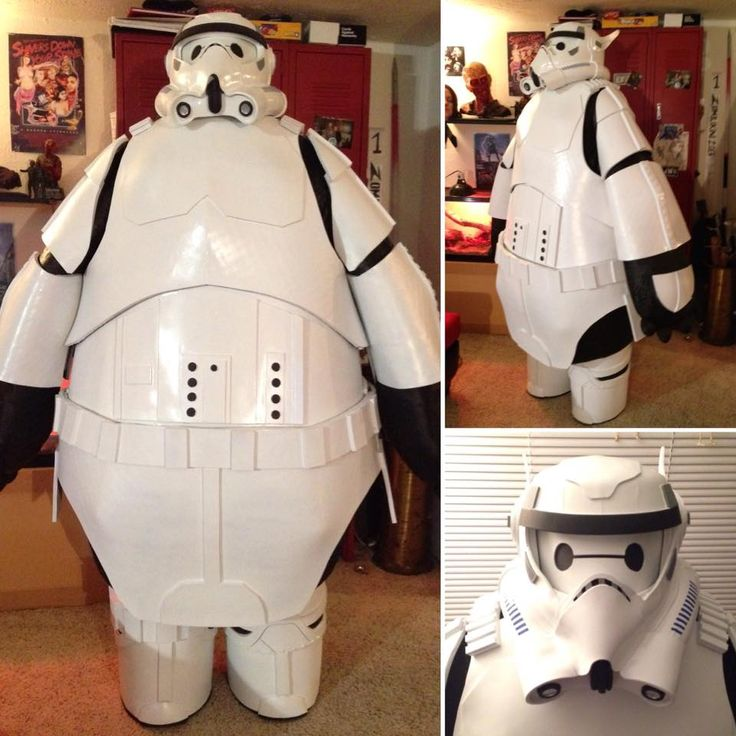 This mash-up of Baymax from Big Hero 6 and a Star Wars Stormtrooper is a creation of pure genius.