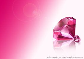 Diamonds - My first attempt to do a realistic jewel without a 3D programme. You can find it on DeviantArt as a wallpaper.