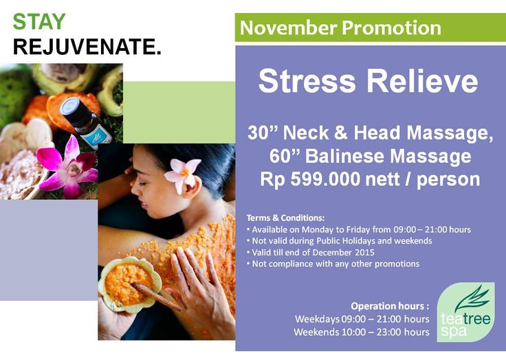 Stress Relieve Package - Tea Tree Spa