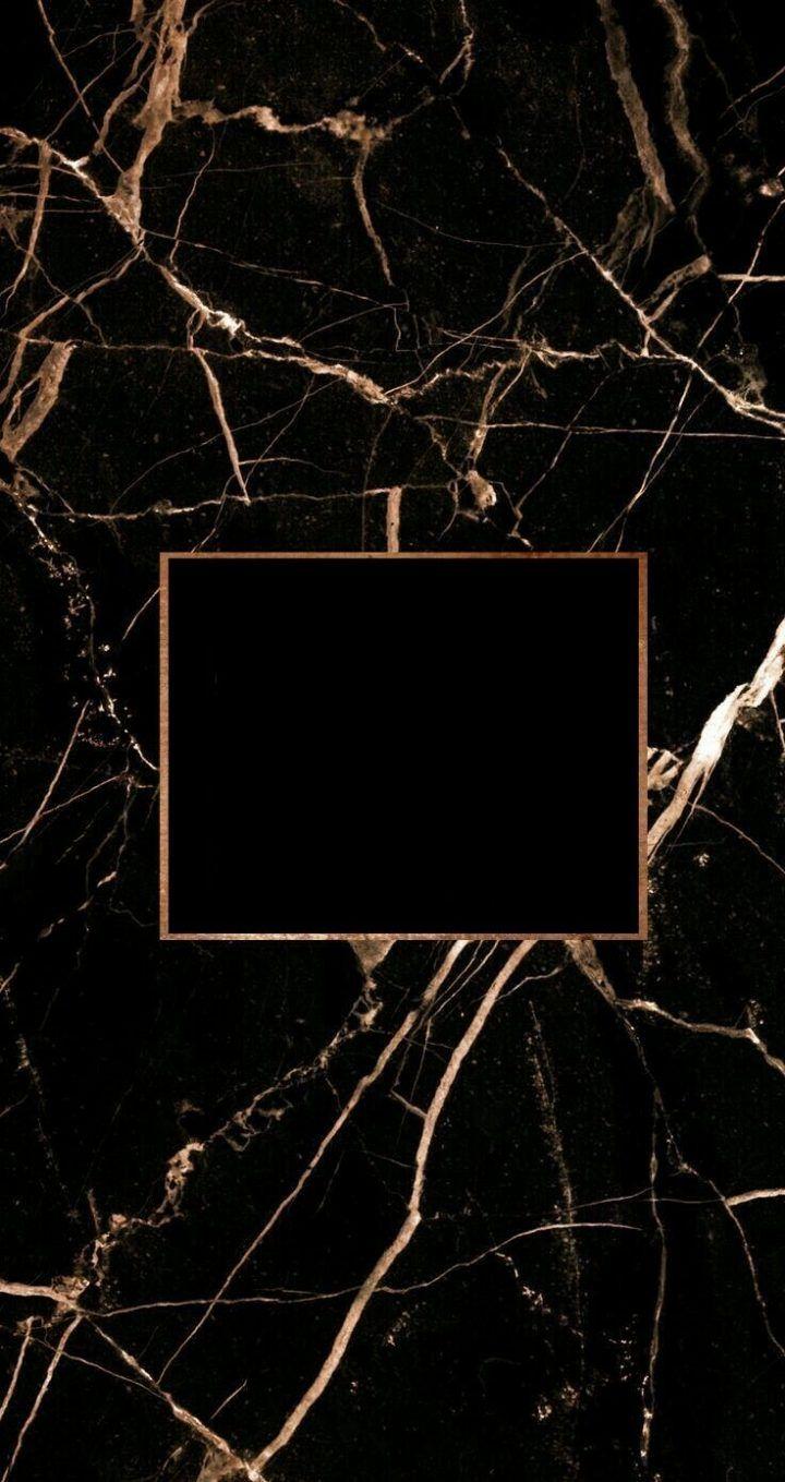 Schwarzer Marmor mit Roségoldfolie und einem Titelfeld #einem #marmor #rosegol