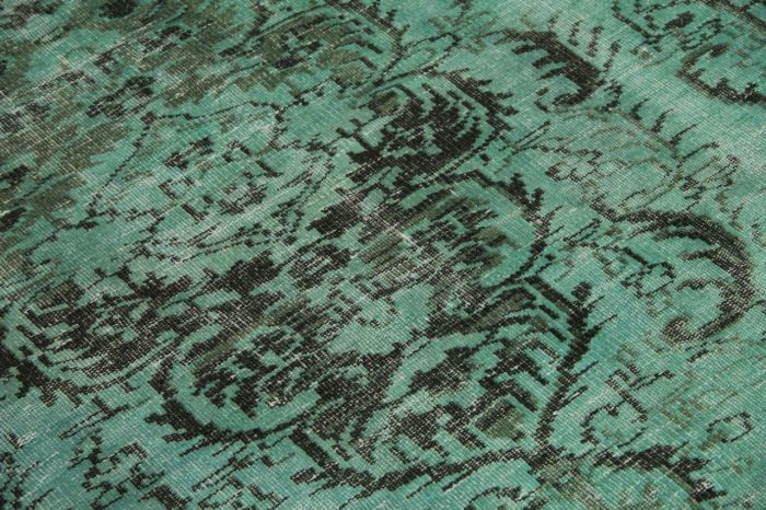 vintage vloerkleed zeegroen 287cm x 178cm