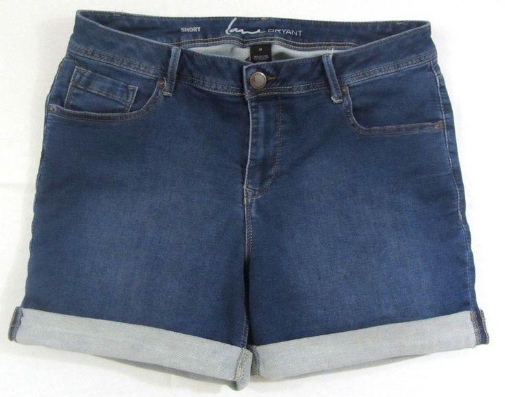 Lane Bryant Cuffed Medium Wash Shorts Plus Size Women 18 #LaneBryant #CasualShorts #Summer