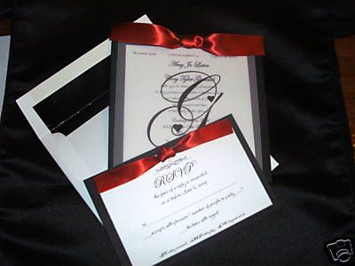 "This is what the Wedding invitations will look like! Only in Black and Purple and ""H"" as the letter of course"