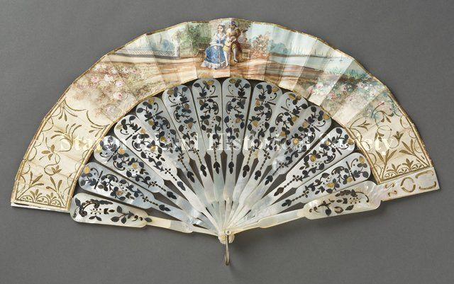 Fan  Date1850-1860  DescriptionFolding fan (Romantic or Rococo Revival style). (Staten Island Historical Society Collection)