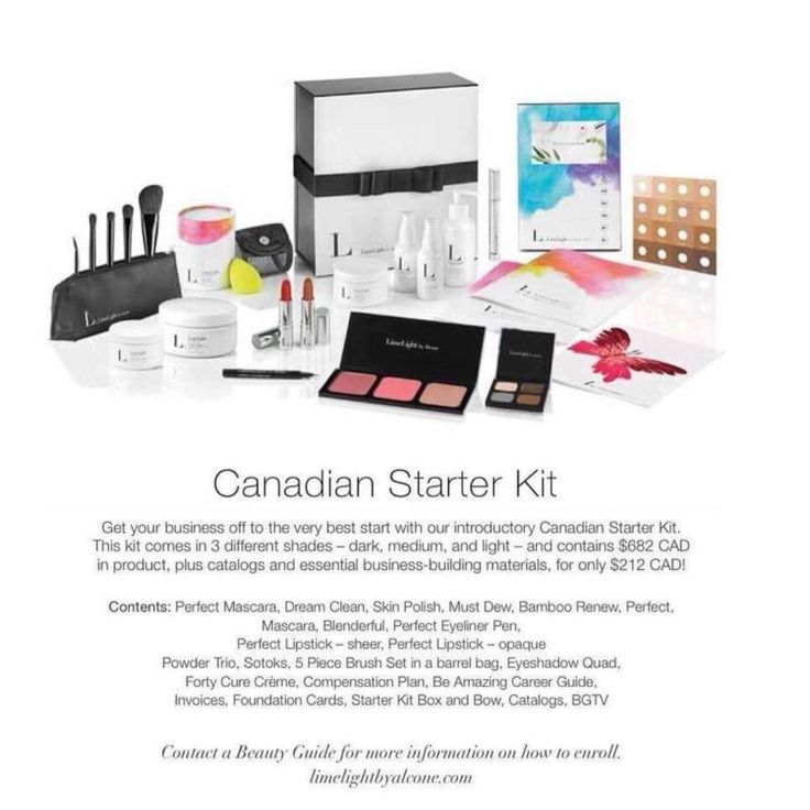 All the juicy details about LimeLight by Alcone's Starter Kit when you become a Canadia Guide! $682 worth of full size, professional products for $212 CAD. Click to see our full blog article with a breakdown of the Beauty Guide Starter Kit!