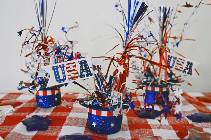 Patriotic Top Hats 4th of July Table Decoration , Fourth of July, Patriotic Table Decoration, Set of 3, Ready to Ship! by SeasonalBoutique on Etsy https://www.etsy.com/listing/237075074/patriotic-top-hats-4th-of-july-table