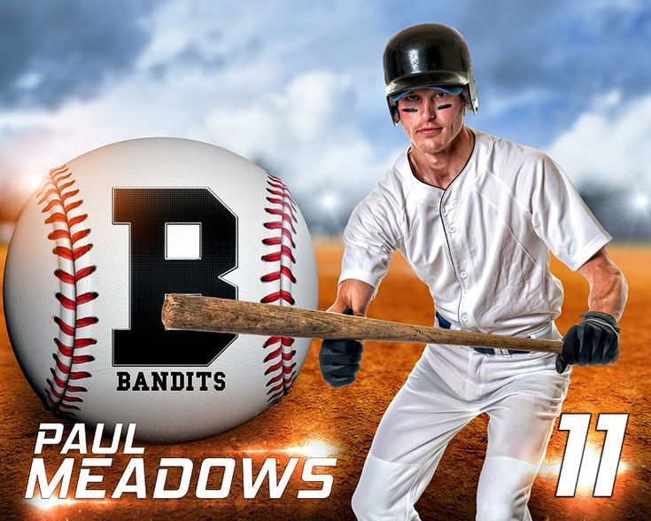 Sports Poster Photo Template - Focus - Photoshop Sports Template
