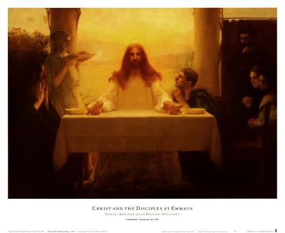Art Print - Christ and the Disciples at Emmaus by Pascal-Adolphe ...