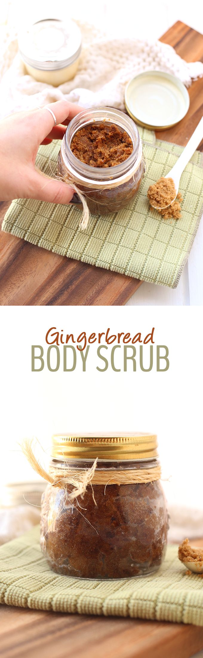 5 kitchen ingredients is all you need to make this all-natural DIY Gingerbread Body Scrub. It makes the ultimate holiday gift that will keep your friends and family's skin soft and smooth all winter long.