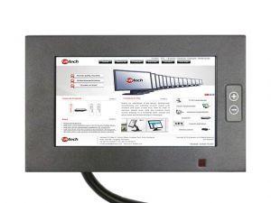 """10.4"""" Touch usb Monitor - 5 fili resistivo - 1024*768 - nero - industriale IP65 con ingresso VGA"""