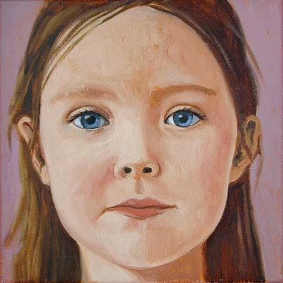 Anna, 30x 30cm, oil on canvas ©ermine