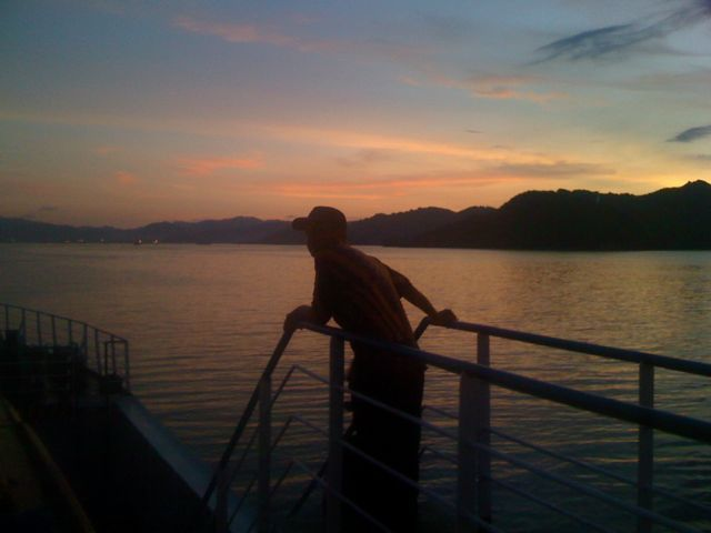 Slow travel on a public ferry to Lombok from Padang Bai Bali.