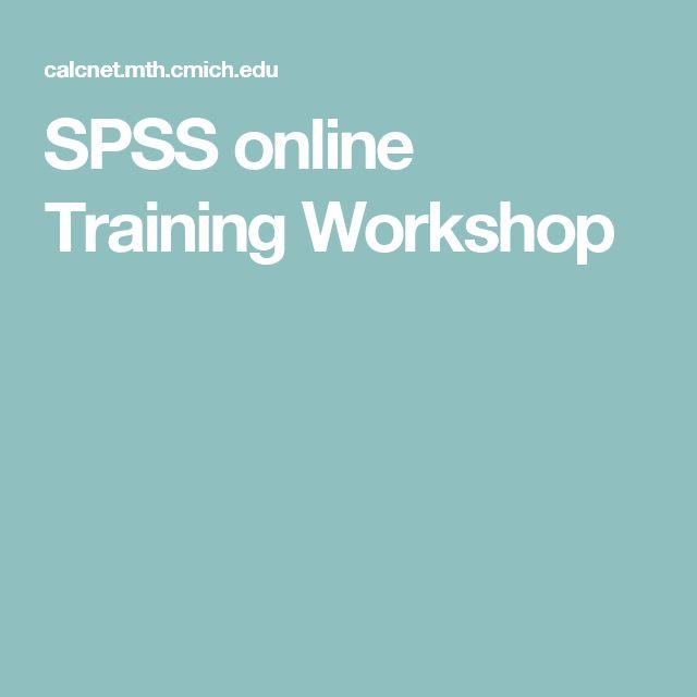SPSS online Training Workshop