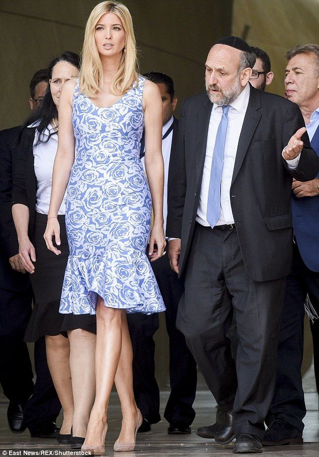 First Daughter: Ivanka, meanwhile, visited the Monument To The Ghetto Heroes in Warsaw and the POLIN Museum of the History of Polish Jews