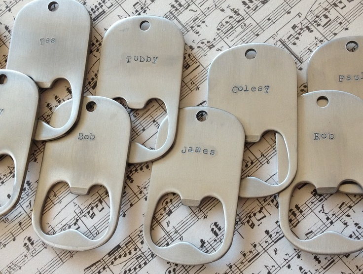 Bottle Opener Keyrings. Wonderful wedding favour idea! By Honeydew & Violet #weddingfavours #weddingideas