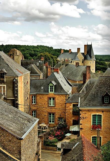 Sainte-Suzanne - A French medieval village in the Pays-de-la-Loire région, France