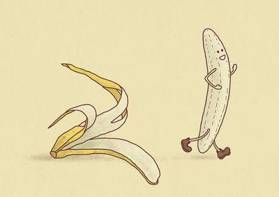Streaker by Terry Fan, society6 #Illustration #Banana