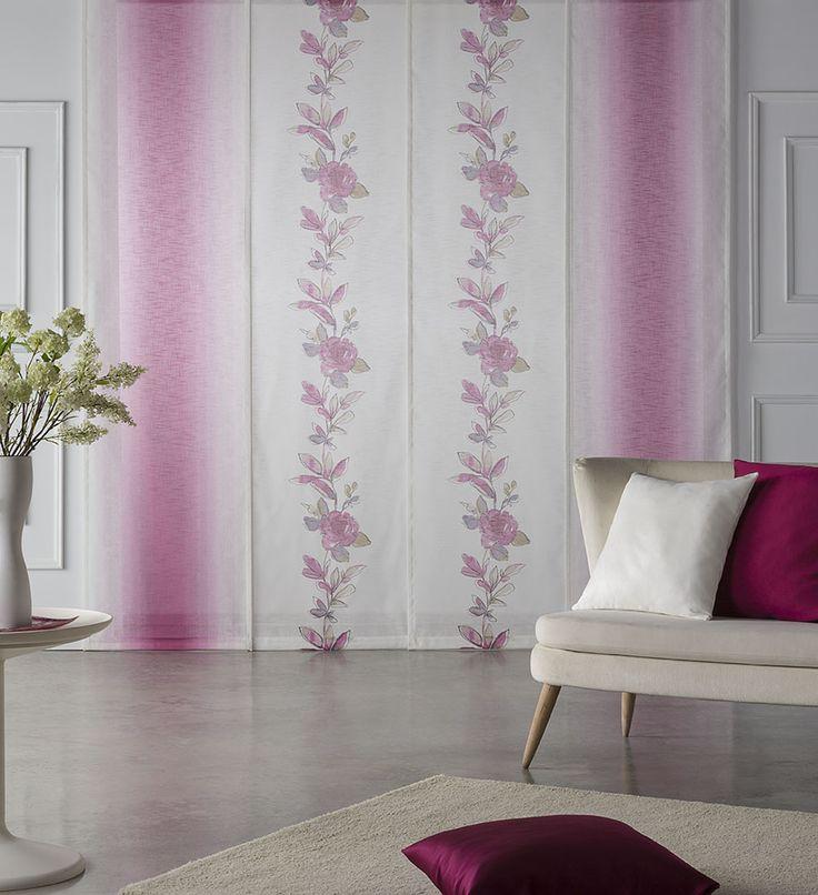 idea de decoracin propuesta por scenes que combina los paneles estampados penlope y morris