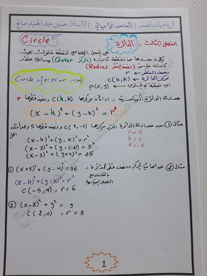 ملخص الفصل الثالث الدائرة الرياضيات للصف الخامس الاحيائي اهلا بكم متابعي موقع وقناة الاستاذ احمد مهدي شلال في هذا الموضوع سنعر In 2021 Blog Blog Posts Bullet Journal