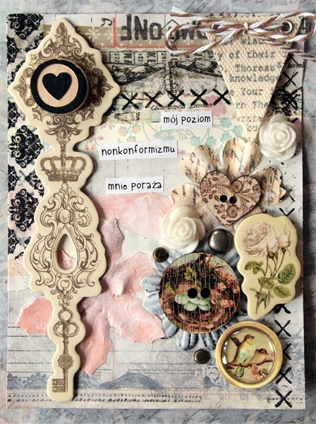 Card 4x6'' by Tusia Lech - 5 words about things you do not know about me.