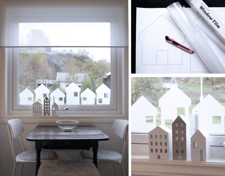 Window covering – houses made of window film.