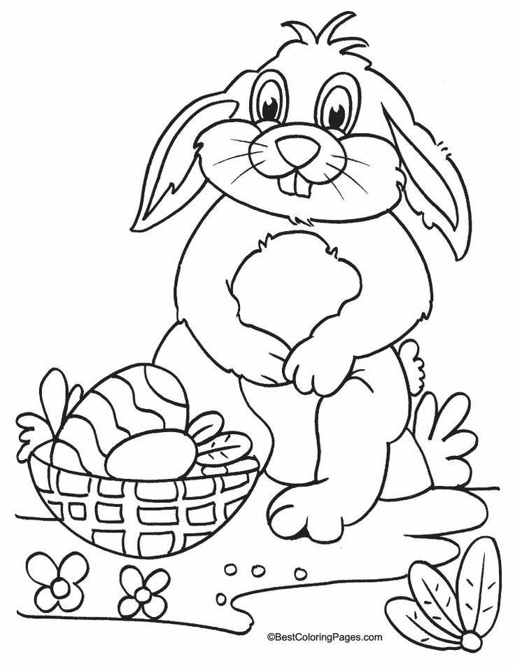 119 best Easter images on Pinterest Crafts for kids, Infant crafts - best of bunny rabbit coloring pages print