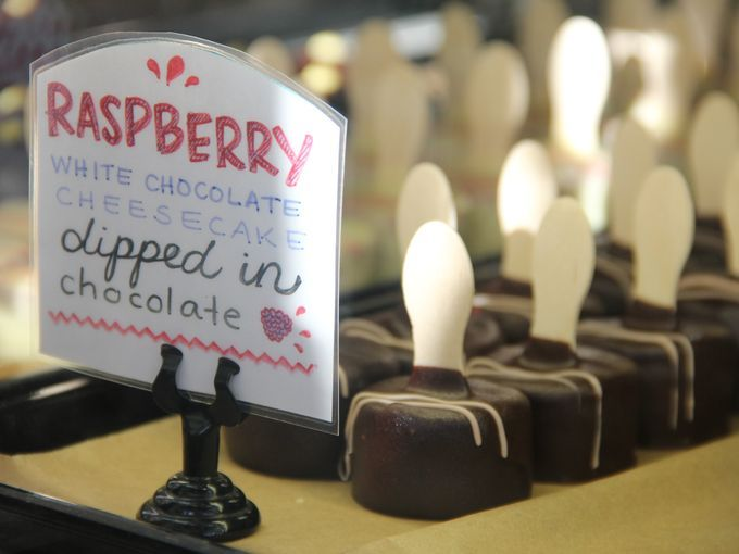 Must-try cheesecake truffles at The Confectional in Seattle are covered in rich Guittard chocolate and come in an array of flavors.
