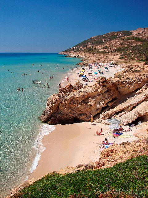 Pinus beach Santa Margherita di Pula, Sardinia