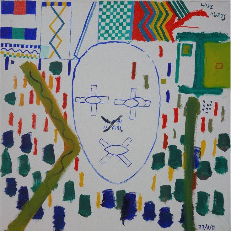 La cuenta regresiva del arte esquizofrénico de Bryan Charnley: Self Portrait Series 23rd April 1991.