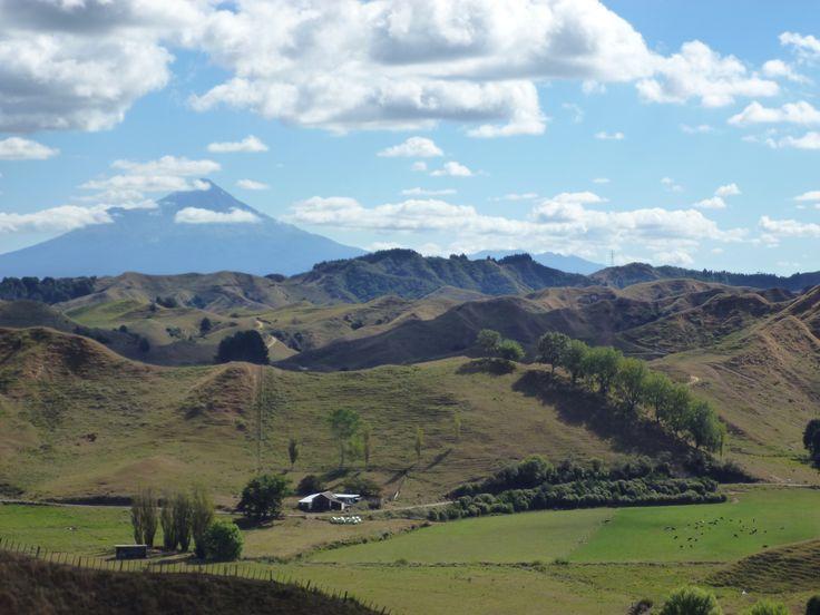 View from the pass Eastern Taranaki walk