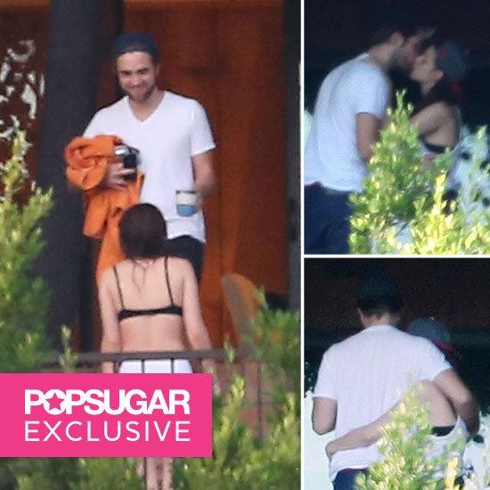 OMG you guys! Kristen Stewart and Robert Pattinson kissing poolside!!