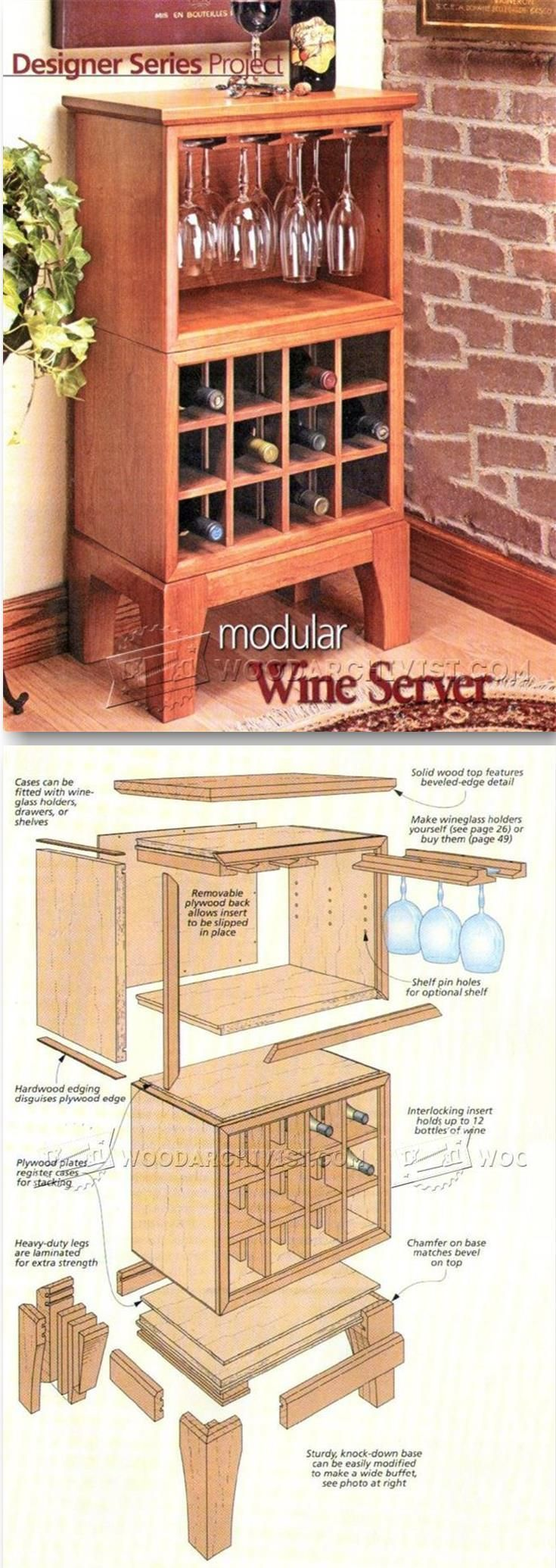 Wine Server Plans - Furniture Plans and Projects | http://WoodArchivist.com