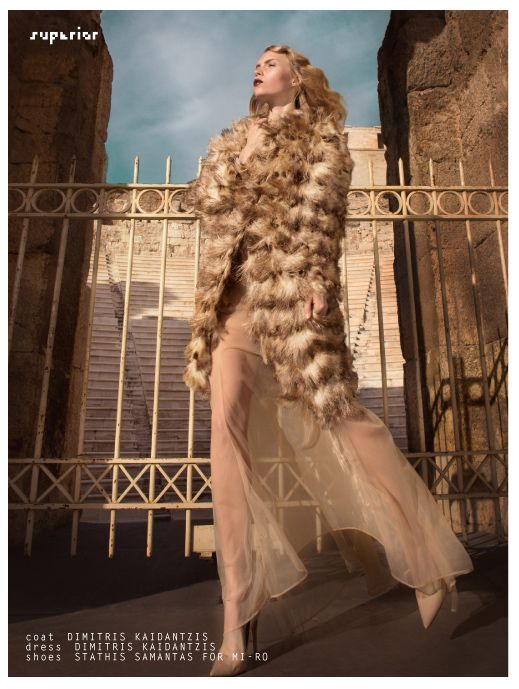 SUPERIOR | Fashion Editorial by MALLIL KAPOYANNIS SOMEWHERE IN TIME photography by MALLIL KAPOYANNIS styling LAZAROS TZOVARAS make- up STEFI BAZAVAN hair MARY SOLDATOU model NOORA LAPPI @ ELITE NYC, WOMENA MANAGEMENT MILAN, ACE GR