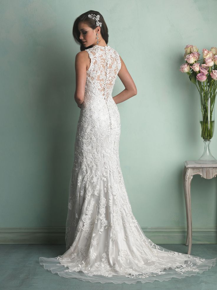 Allure bridals fall 2014 collection style 9160 wedding for Pinterest wedding dress lace