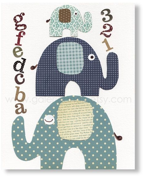 Nursery art prints baby nursery decor nursery wall by GalerieAnais. $14.00, via Etsy.
