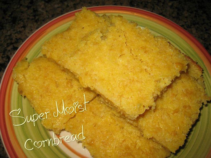 Super Moist Cornbread using Jiffy Corn Muffin Mix