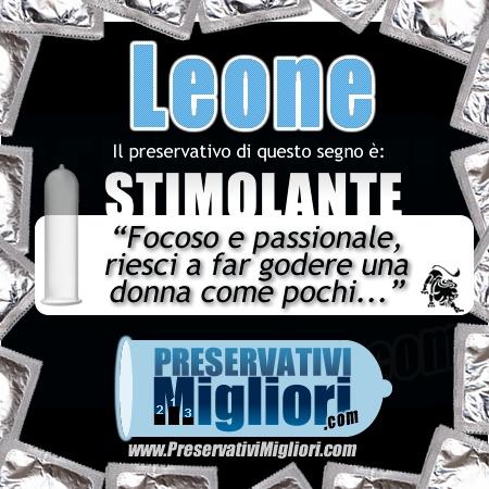 """Leone -  Preservativo Stimolante - """"Focoso e passionale, riesci a far godere una donna come pochi"""" - http://www.preservativimigliori.com/stimolanti.html"""