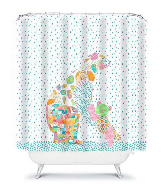 Kids Shower Curtains Kids Bathroom Decor Childrens Shower Home