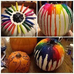 Crayon Pumpkin Glam Pumpkin WestCoastCrafty: DIY Pumpkin Decorating