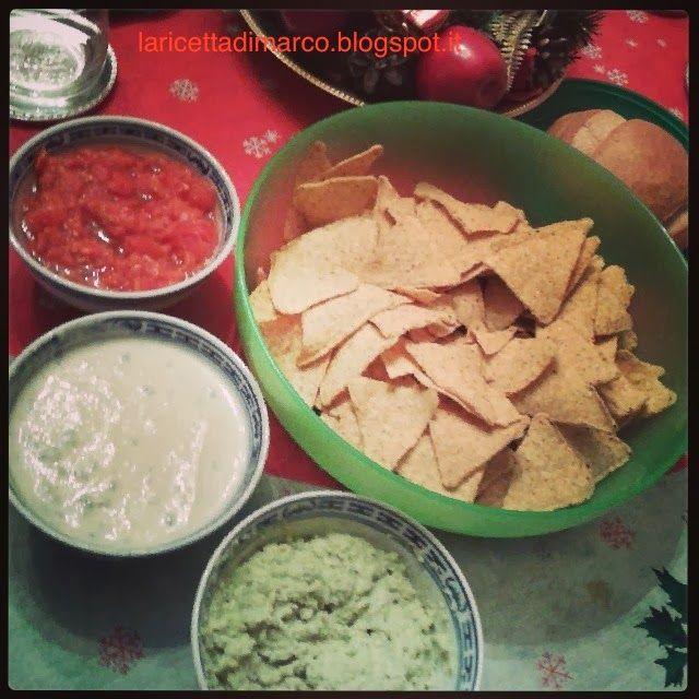 La ricetta di Marco: Nachos party: Salsa Messicana Piccante, Guacamole, Salsa al formaggio