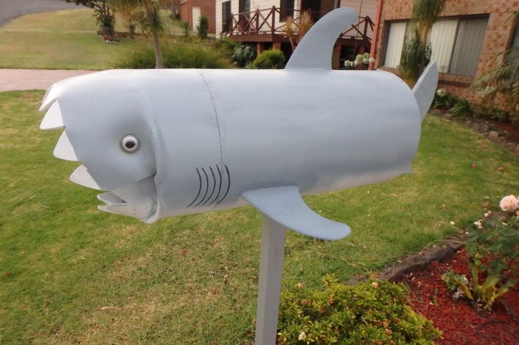 Shark letterbox quirky original and we love it! Just don't want my seafood delivered!