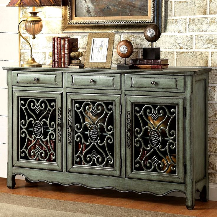 Decorative Antique Sideboard Accent Cabinet