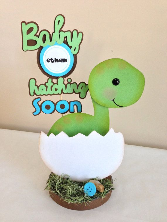 Baby Dino Dinosaur Centerpiece Baby Shower  by DivaDecorations, $20.00