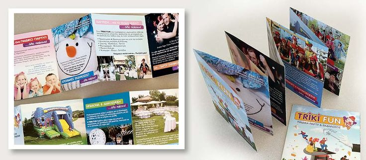 Design and Printing of Triki Fun's Flyers for Kids Parties by ThinkBAG.