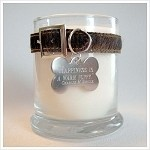 Dog Memorial Candle with engraved pet quote ~ 12.5 oz Memorial Candle. I'm making on of these for my baby boy when his time comes. Not fun to think about but a great way to remember the love you share with your pet