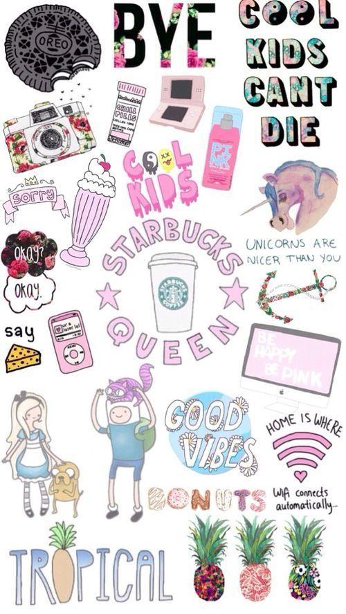 Group Of Girly Starbucks Wallpaper