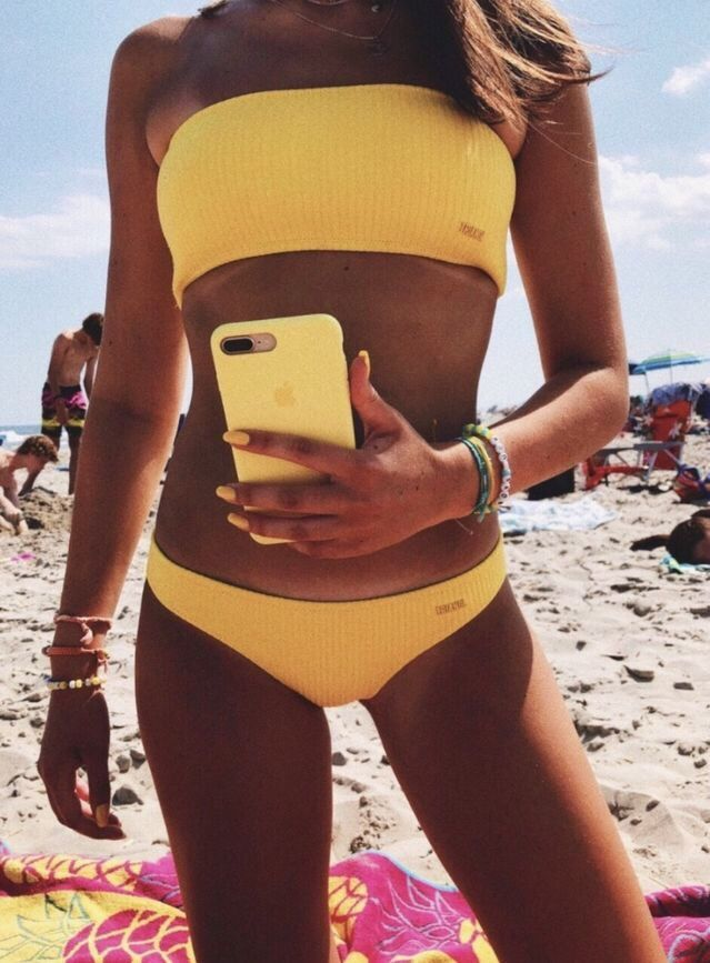 647ba83389 VSCO - bestvscovibes - Images | yellow | Summer bathing suits, Swimsuits, Bathing  suits